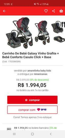 Carrinho Kiddo Galaxy + bebê conforto + base - Foto 6