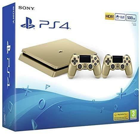 Ps4 Slim 1 TB  Gold com 2 controles + jogos top   - Foto 3