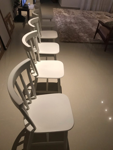 Cadeiras Tokstok madeira branca  - Foto 2