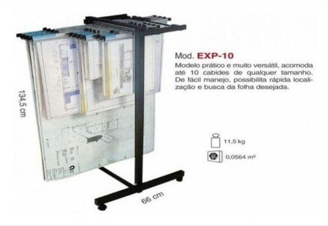 Expositor Mapoteca Para Projetos Ate 10 Cabides Trident