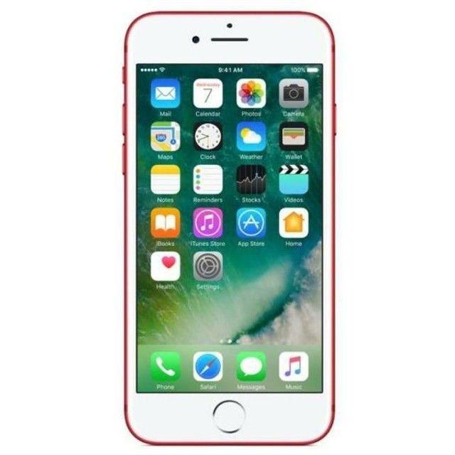 iphone 7 Plus 128gb Vermelho Novo Lacrado - Foto 5