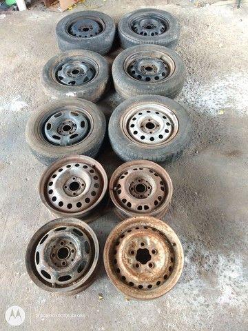 Rodas estepe estep pneus - Foto 3