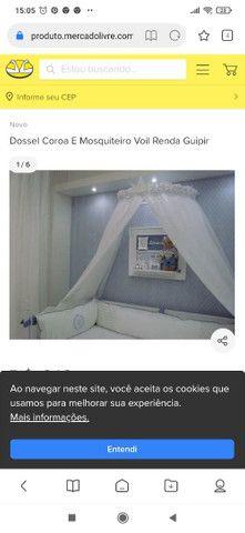 Dossel de parede  com mosqueteiro de voil - Foto 2