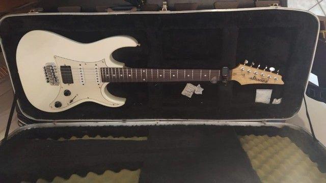 Guitarra Ibanez Grx40 HSS Branco Perolizado Captador Dimarzio Evolution