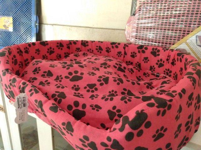 Cama G rosa com estampa de patinhas - Foto 2