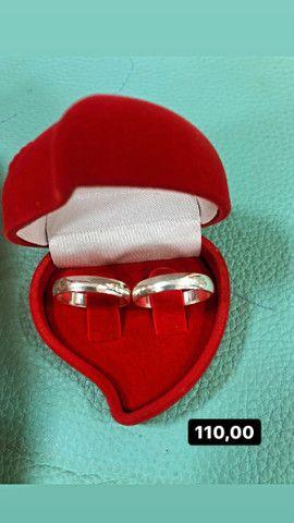 Aliança de namoro prata 925 - Foto 3
