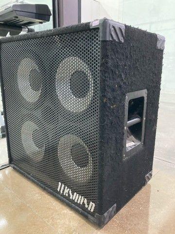 Caixa passiva 4 falantes de 10 para cabeçote de baixo teksound - Foto 3