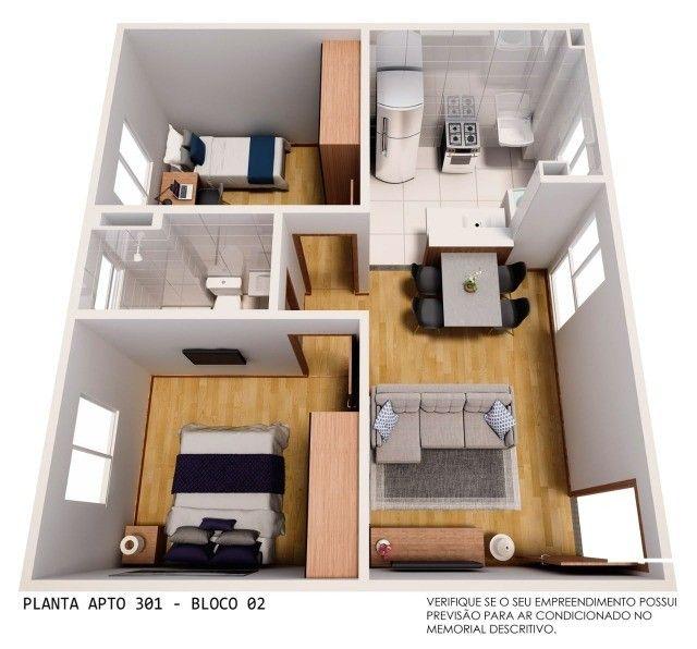 Apartamento em Cidade Satélite - 2/4 - 48m² - Nova Amsterdã - Documentação Grátis - Foto 11