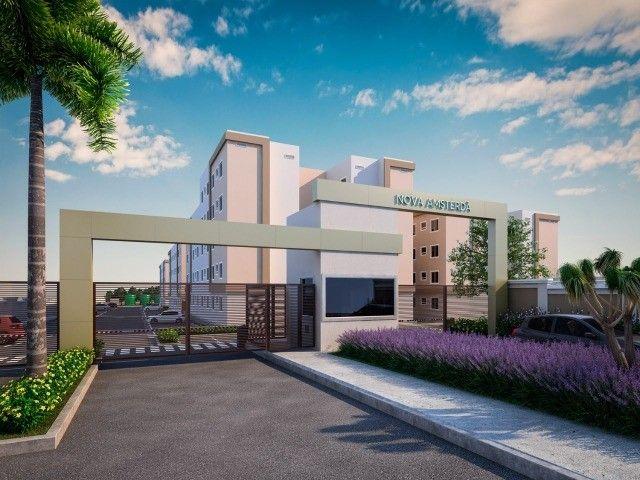 Apartamento em Cidade Satélite - 2/4 - 48m² - Nova Amsterdã - Documentação Grátis - Foto 3