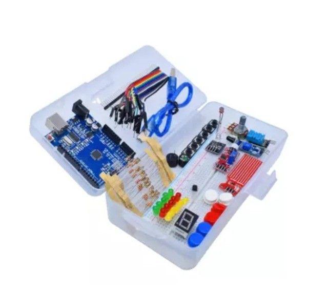 Kit Arduino Uno. Brinde Caixa Plástica