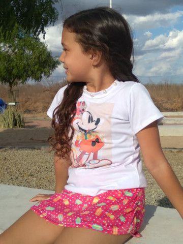 Blusinhas infantis Bella princess óptimo preço pra loja de dez  - Foto 4