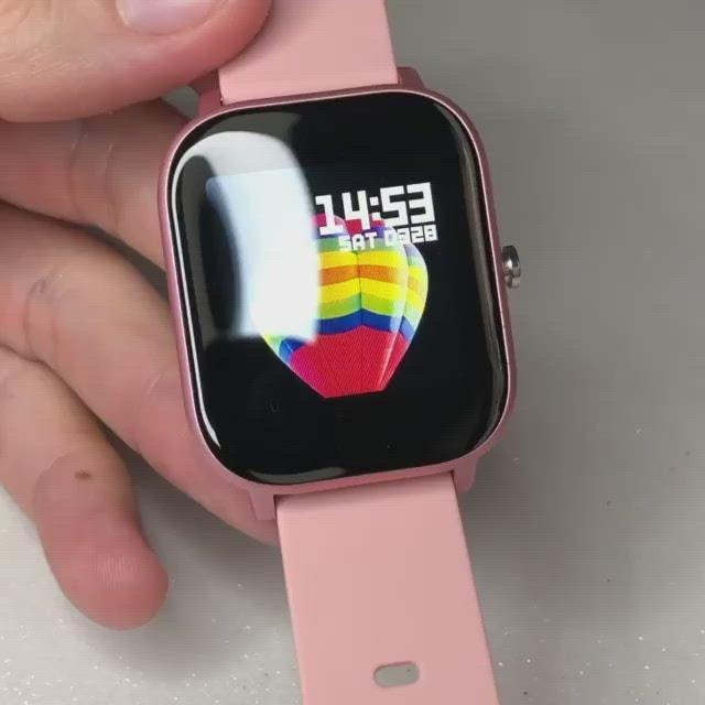 Relógio inteligente P8 SE Sitlos rosa (novo) R$100,00