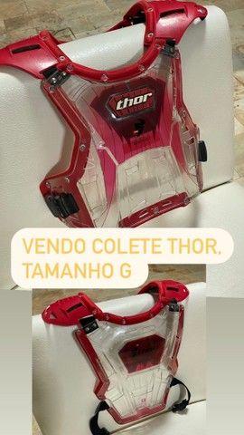 Colete thor tamanho G, trilha, motocross - Foto 4