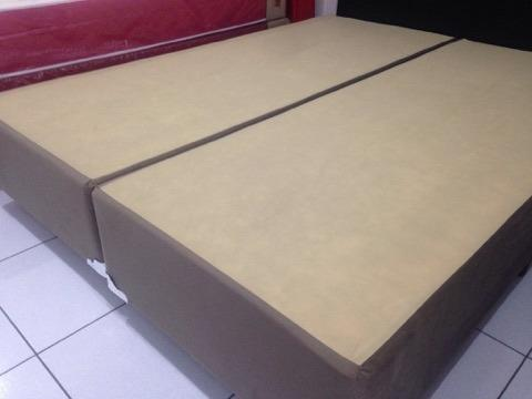 Base Box Queen Size em Suede Marrom