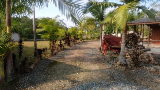 Chácara com Duas Casas rústicas (6 quartos), lado do Rio Palmital - Foto 2