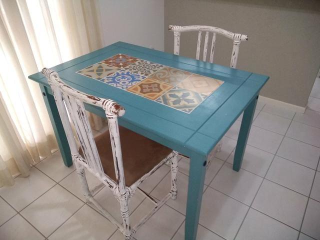 Mesa mosaico + 2 cadeiras - Foto 3