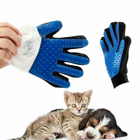 Luva nano magnética tira pelos cães gatos coelhos