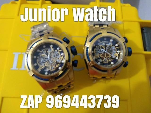 22bcd17a645 Invicta bolt zeus dourado com azul ZAP 969443739 - Bijouterias ...