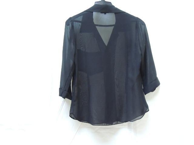 579d5aad44 Blusa Feminina Aberta Social Camisa de Chiffon Barreds Verão nr.02 - Foto 2