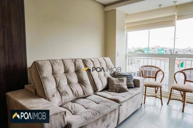 Apartamento com 2 dormitórios para alugar, 60 m² por R$ 2.652,00/mês - Cristo Redentor - P - Foto 8