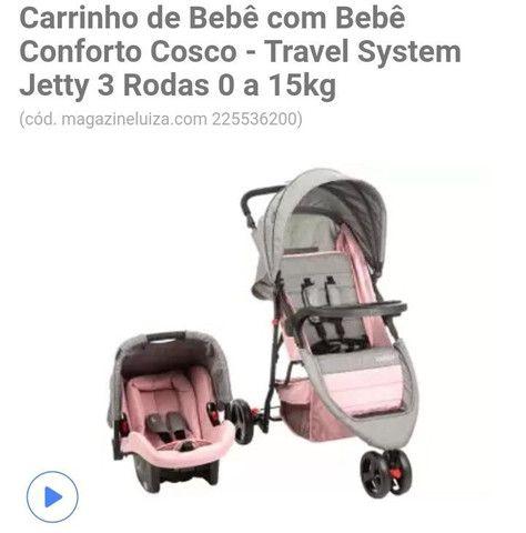 Carrinho de passeio infantil + bebê conforto  - Foto 4