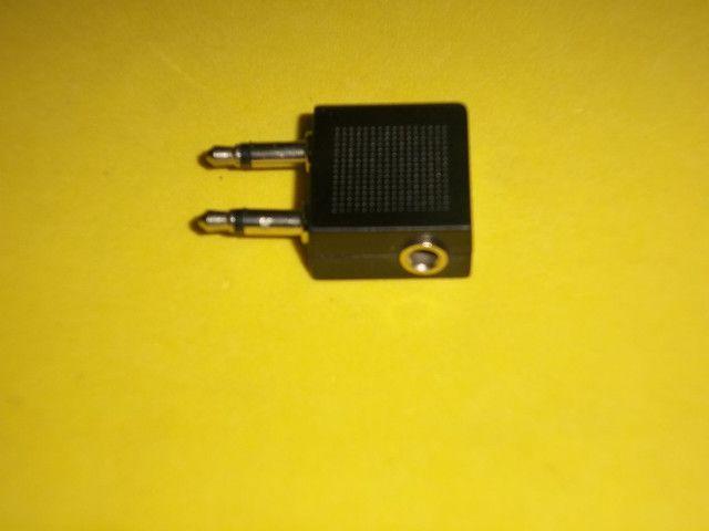 Adaptador P3 fêmea para 2 (P2 macho 3,5mm) - Foto 2