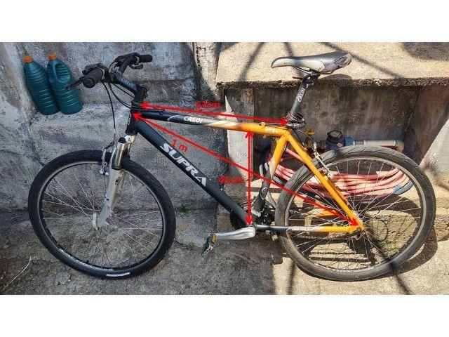 Bicicleta Caloi Aluminio Aro 26 - 21 marchas com kit Shimano Turney Megarange - Foto 5