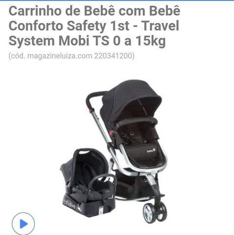 Carrinho de passeio infantil + bebê conforto  - Foto 6