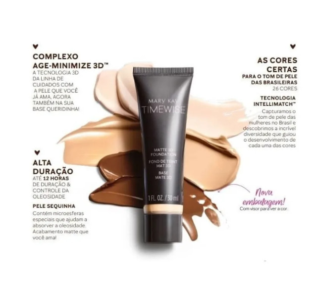 Base Timewise 3D Mary kay Acabamento Matte/Beige/Yvory - Foto 3