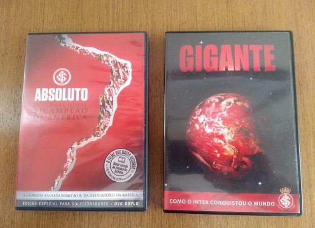 Dvds sobre a Conquista da Libertadores e Mundiall do Inter