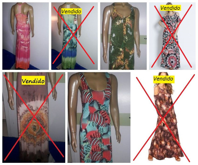"""3 Vestidos """"Cada"""" Cantão + Lez a Lez + Enfim P e M Novos"""