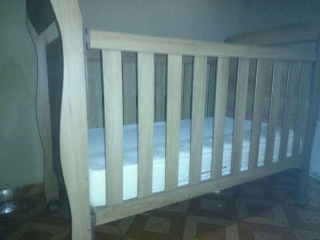 Berço/cama semi-novo nunca usamos - Foto 3