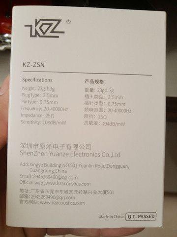 Fone de ouvido profissional<br>Zsn pro - Foto 5