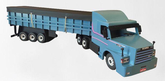 Carreta Scania graneleira 113 miniatura - Foto 3