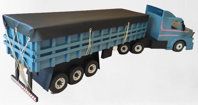 Carreta Scania graneleira 113 miniatura - Foto 4