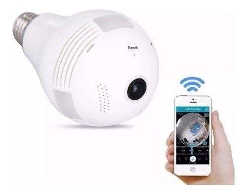 Câmera Ip Wifi Lâmpada Led com 360º App próprio para iPhone e Android - Foto 2