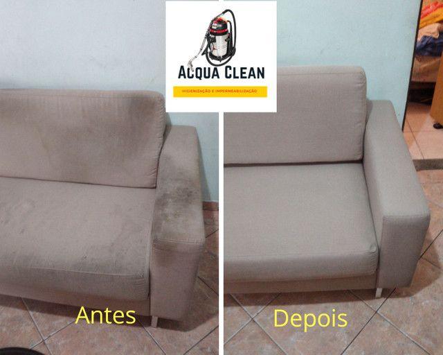 Higienização de Sofás (SERVIÇO PROFISSIONAL PREÇO  JUSTO) - Foto 6