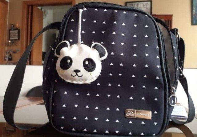 Kit bolsas maternidade (branco e preto) com chaveiro de panda - Foto 6
