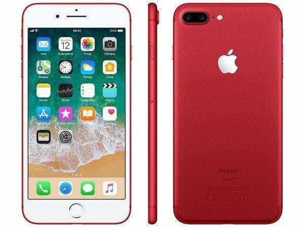 iphone 7 Plus 128gb Vermelho Novo Lacrado - Foto 2