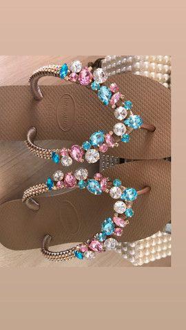 Sandálias customizadas  - Foto 2