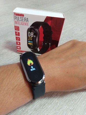 Relógio Smartwatch Tomate Bluetooth MTR-33 Preto - Foto 3