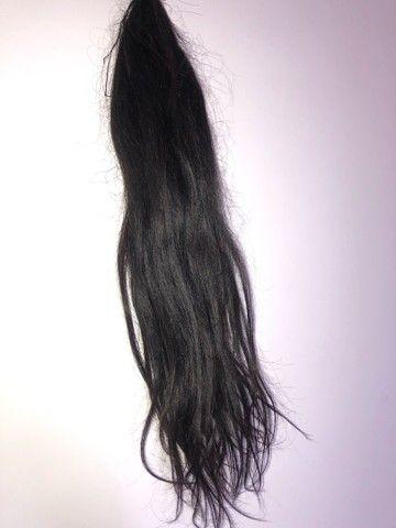 130 gramas de cabelo Virgem castanho escuro