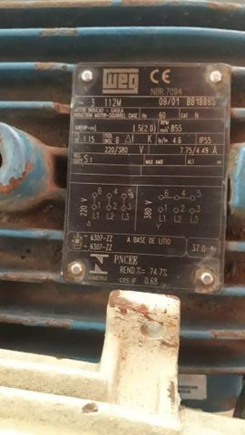 Motor trifasico 2cv Weg - Foto 2