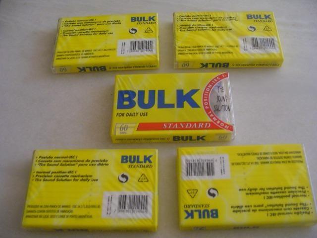 Fitas K7 Cassete bulk 60min. type Normal sem uso Lacradas - Foto 6