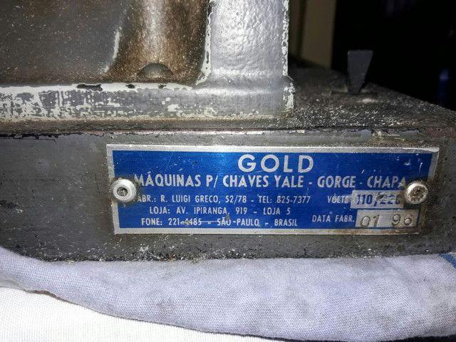 Vendo máquina para chave gold usada ,valor 1,300