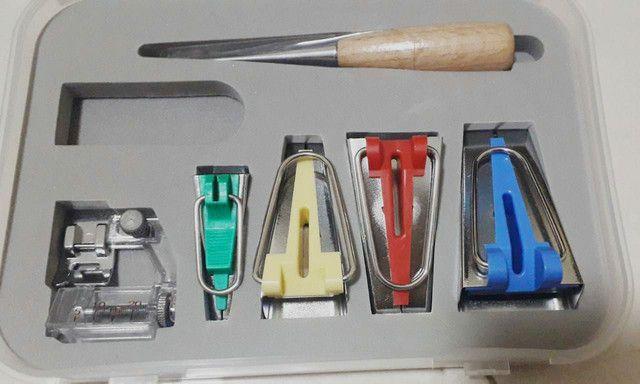 KIT Conjunto Aparelho Calcador de Fazer e Pregar Viés  - Foto 2