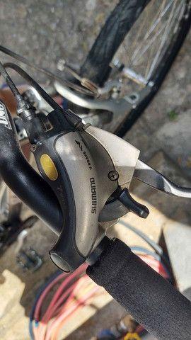 Bicicleta Caloi Aluminio Aro 26 - 21 marchas com kit Shimano Turney Megarange - Foto 4