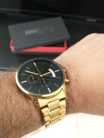 Relógio Original Masculino Dourado Novo na Caixa Armiclock - Foto 2