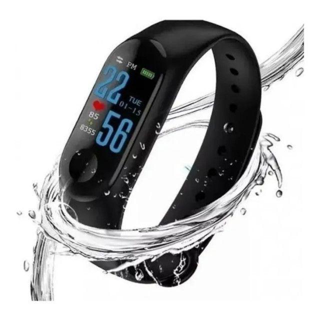 Relógio Pulseira M3 Monitor Cardíaco + Pulseira De Brinde - Foto 6