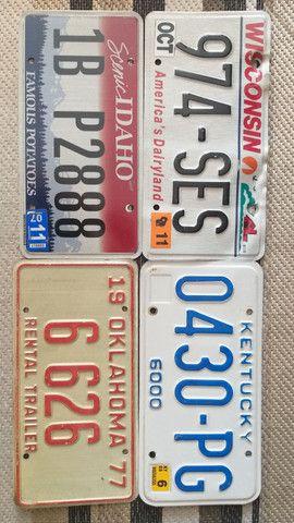 Placas de carro originais Estados Unidos USA - Foto 2